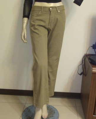 DKNY 直織紋100%棉中低腰直筒長褲 ~AJ衣飾(包2-07)