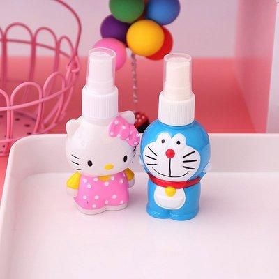 【童樂會】噴霧瓶 按壓瓶 卡通 分裝瓶 乾洗手 化妝水 酒精 Hello Kitty 凱蒂貓 哆拉a夢 小叮噹 機器貓