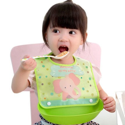 [C.M.平價精品館]現貨特價/寶寶吃飯防水易清洗組合式圍兜