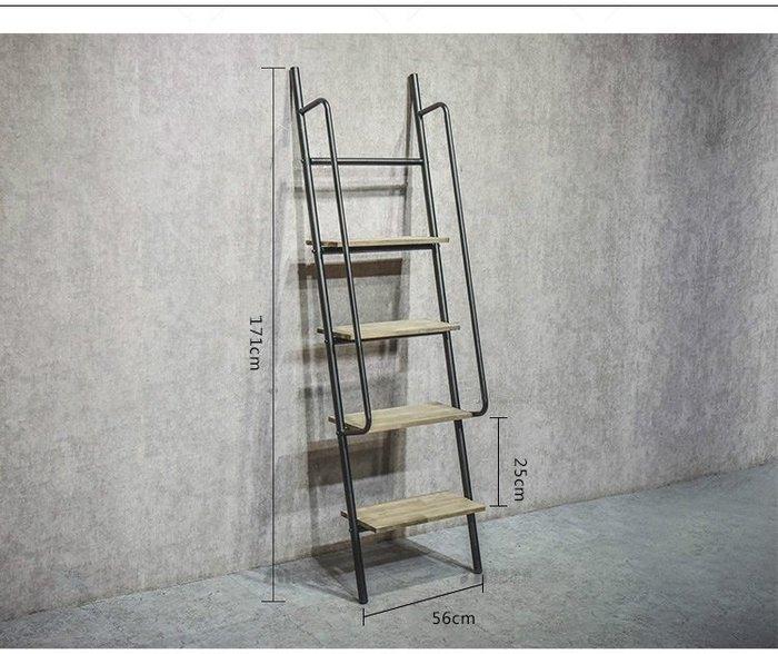 尼克卡樂斯 ~工業風格服飾店靠牆梯形層架 復古層架 服飾店展示架 實木板衣帽架 工業風服飾店裝潢