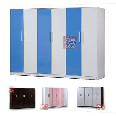 [自然傢俱坊]-防蛀防水(塑鋼)-RB-827123-[舞鶴]-六門衣櫃組(組裝)-可拆賣(寬240*高200CM)