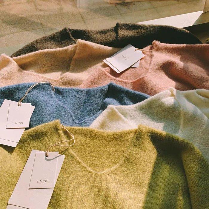 早鳥價〰️🎶 卷卷邊設計 加厚 保暖 百搭長袖針織衫sal775q1