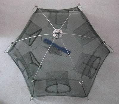 【加固型捕魚籠-6進口80cm-直徑80cm-2套/組】加固型密眼網 捕魚網 捕蝦網 地籠 魚籠 蝦籠-76029