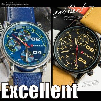 男女中性錶 立體三眼造型 光澤質感大錶面 韓系經典設計 ☆匠子工坊☆【UK0020】