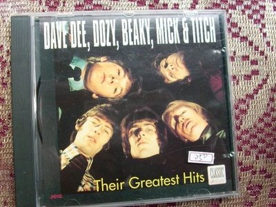 CD~Dozy, Beaky, Mick & Tich--Their Greatest hits (12 tracks.9成新無刮傷).