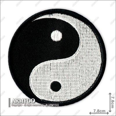 【ARMYGO】太極 繡章 (黑色)