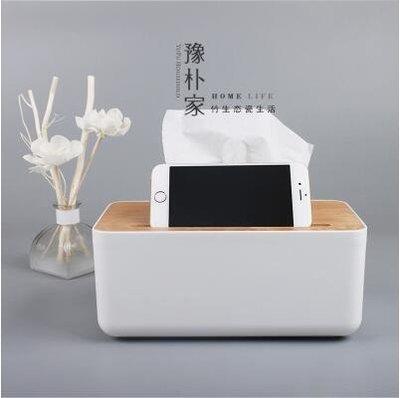 【優上】歐式紙巾盒餐巾紙抽盒 客廳車用抽紙盒橡木製蓋子「楓木蓋紙巾盒可放手機款」