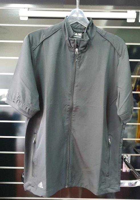 (易達高爾夫) 全新原廠ADIDAS Z88661 黑色 男半袖防風夾克