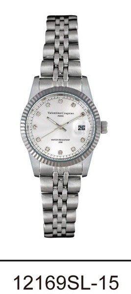 (六四三精品)Valentino coupeau(真品)(全不銹鋼)精準女錶(附保証卡)12169SL-15