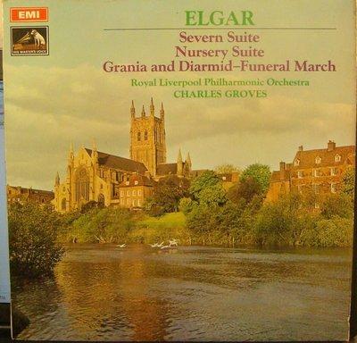 ***黑膠 Groves - Elgar : Severn Suite 等 管弦樂組曲集 (英HMV 早期彩色狗 首版)