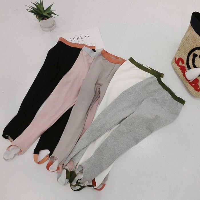 自留 女童多色 打底褲 春夏薄款可踩腳可裝飾 撞色好看兒童外穿褲子