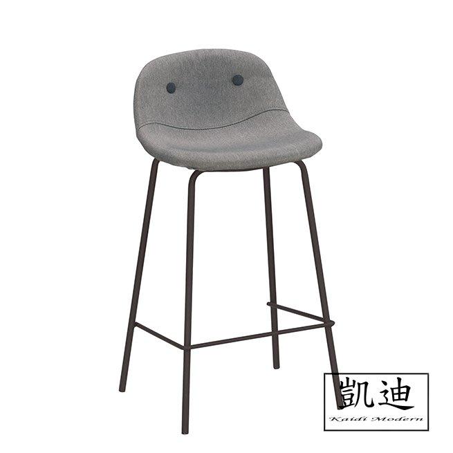 【凱迪家具】M4-1046-7華爾斯吧椅(低)(灰色布)/桃園以北市區滿五千元免運費/可刷卡