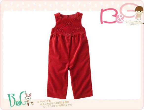 【B& G童裝】正品美國進口GYMBOREE紅色細絨連身裝2,3yrs