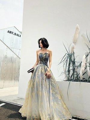 *全新~sasa婚紗禮服~星月天空婚紗 禮服 台中伴娘服 台中婚紗