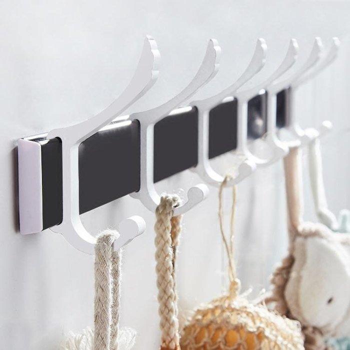 浴室墻壁衣服掛鉤 強力粘膠壁掛免打孔臥室門後掛衣架貼墻上粘鉤sys