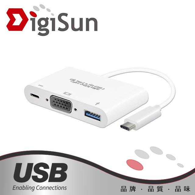 DigiSun UB325 USB Type-C to VGA+USB3.0+Type-C Charging 轉接線
