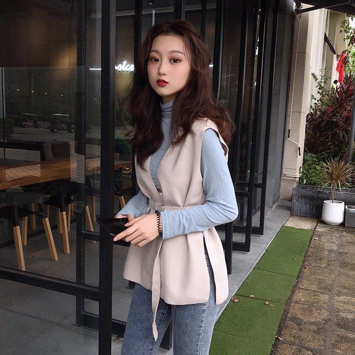 2019初秋季新款港風套裝女長袖t恤百搭打底衫修身馬甲外套兩件套  衣品居 YPJ