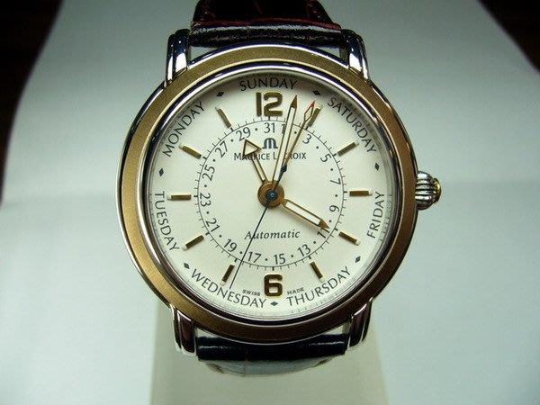 [吉宏精品交流中心]MAURICE LACROIX 艾美 經典五針 自動上鍊機械 男錶