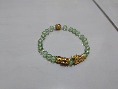 綠碧璽貔貅手環