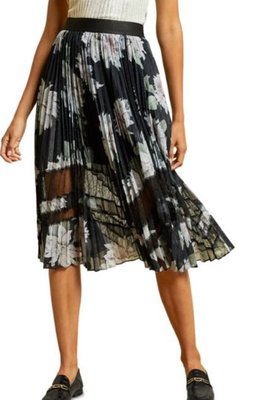 Ted Baker Floral Print Pleated Skirt4/3止