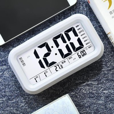哆啦本鋪 北極星學生創意靜音床頭簡約鬧鐘夜光臥室鬧鈴兒童充電智慧電子鐘 D655