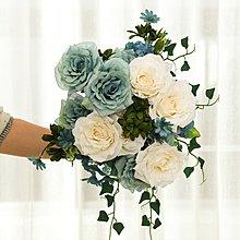 〖洋碼頭〗花藝如意玫瑰假花仿真花束客廳餐桌絹花電視櫃裝飾擺設幹花 sme187