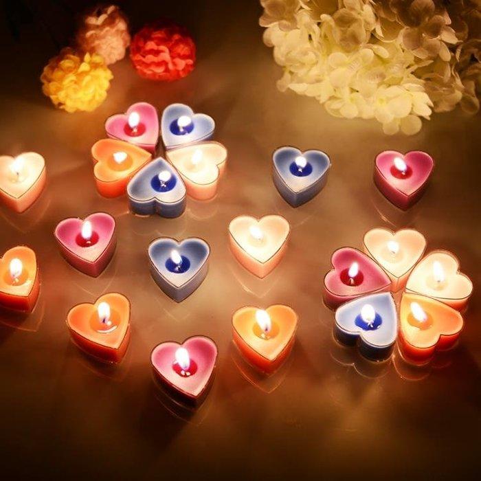 心形蠟燭香薰蠟燭浪漫生日蠟燭熏香愛心蠟燭七夕燭光晚餐創意蠟燭