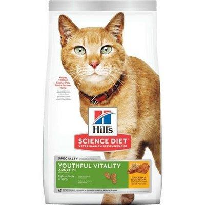 予小舖 希爾思 hills 希爾斯 青春活力 生活照護 13磅 7歲以上 成貓專用 貓飼料 雞肉與米配方 貓用乾糧 10779