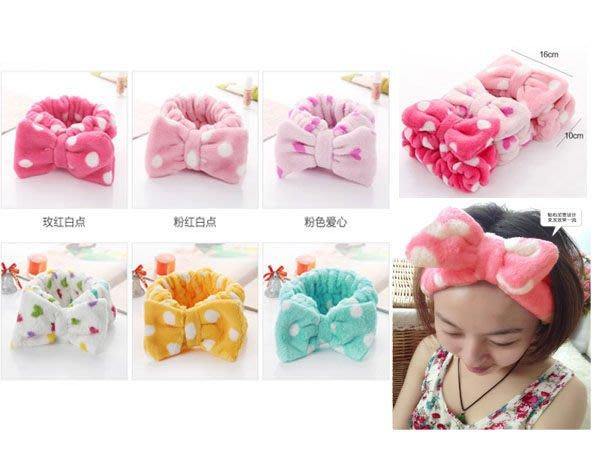 Q媽  可愛新日式蝴蝶結束髮帶 大蝴蝶結洗臉化妝 髮帶束髮巾
