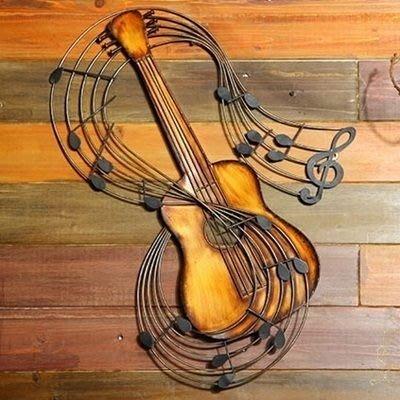 掛飾 壁掛 擺件-復古做舊樂器立體居家擺飾用品2款73a3[獨家進口][巴黎精品]