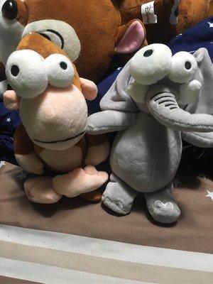凸眼大象/猴子娃娃