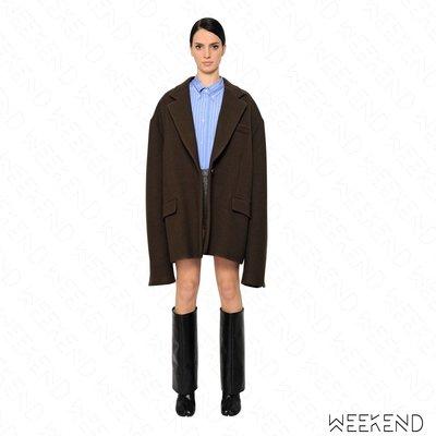 【WEEKEND】 MAISON MARGIELA Oversize 羊毛 外套 大衣 咖啡色 女款 17秋冬新款