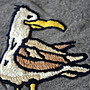 ?? Hollister logo 海鷗 海鳥 刺繡 T恤 (XL) Abercrombie A&F Hco