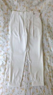 花花小鋪 ~ UNIQLO(專櫃) 全新直條紋垂墜風束口褲