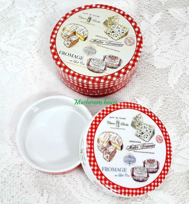 點點蘑菇屋 義大利Easy Life Design精緻陶瓷乳酪麵包起司收納盒 Cheese 蛋糕 下午茶 甜點 鄉村風