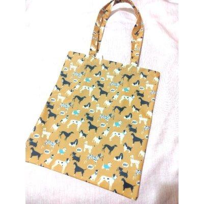【現貨】可愛滿版狗狗防水手提袋