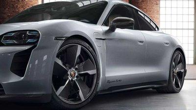 ✽顯閣商行✽德國原廠Porsche Taycan Exclusive Design 21吋 碳纖維鍛造鋁圈含胎組 改裝