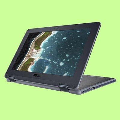 "5Cgo【聯強】華碩 Chromebook C213NA系列 (11.6""/4G/32G/可翻轉/觸控筆)2年保"