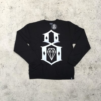 【HOMIEZ】REBEL 8 STANDARD ISSUE LOGO CREW 黑