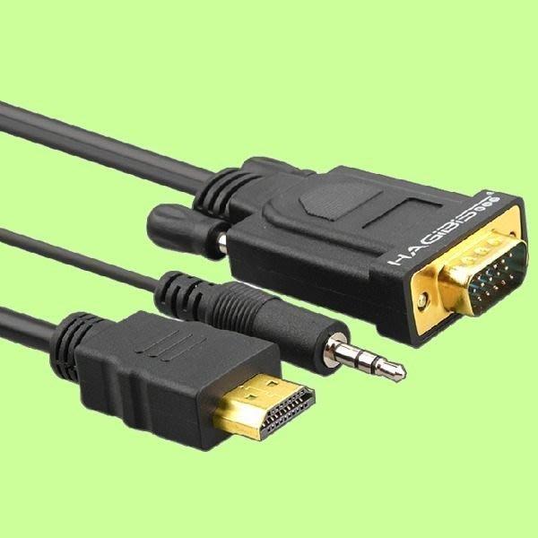 5Cgo【權宇】海備思 1080P HDMI轉VGA + AUDIO 轉換線 投影機 3M=980 另2M=790 含稅