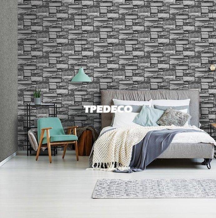 【大台北裝潢】PT馬來西亞現貨壁紙* 環保建材 仿建材 亮粉灰色文化石 每支580元