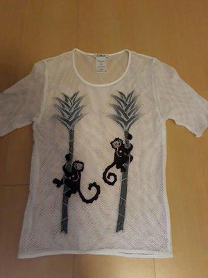 二手Chloe'網狀100%上衣xs號,商品如圖售出無退換貨服務可接受再下標布料有彈性~