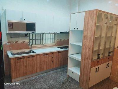 ஐ京品廚具ஐ工廠直營 專營台中廚具 定規210公分人造石系列組含瓦斯爐、油煙機只要34500元