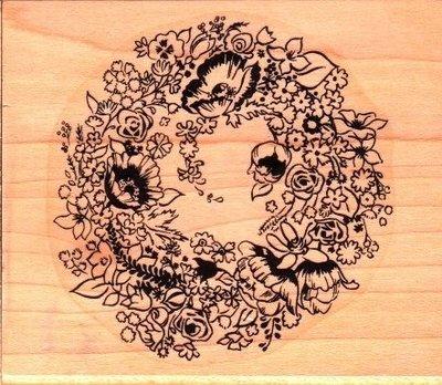 陽光一品DIY卡片印章專賣店~~木頭印章~~花~~#73-103J~~美國製絕版品