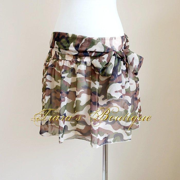 USNS GIRLS 飄逸雪紡紗迷彩短裙 帥氣度與可愛感的創意結合 (322)