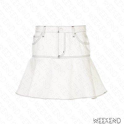 【WEEKEND】 OPENING CEREMONY x Chloë Sevigny 聯名 拼接 荷葉襬 牛仔裙 白色