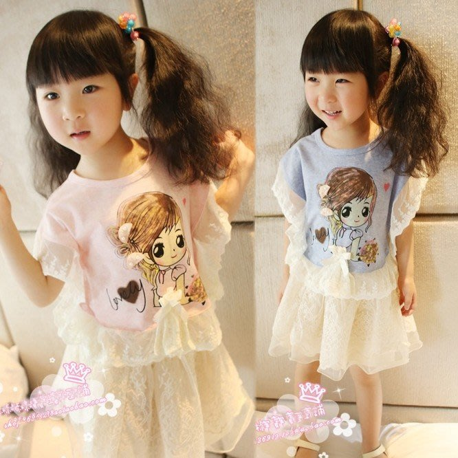 韓版《娃娃蕾絲款》甜美短袖上衣C2-2
