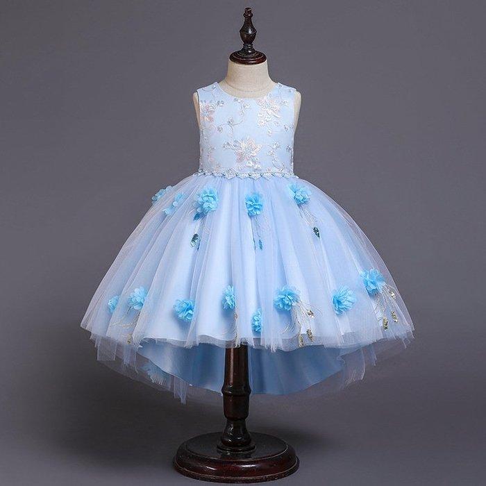 •*~ 辣媽咪衣飾小舖 ~*•❤童裝系列❤K970456韓版大童夏款甜美清新時尚蓬蓬蕾絲亮片可愛公主禮服公主洋裝