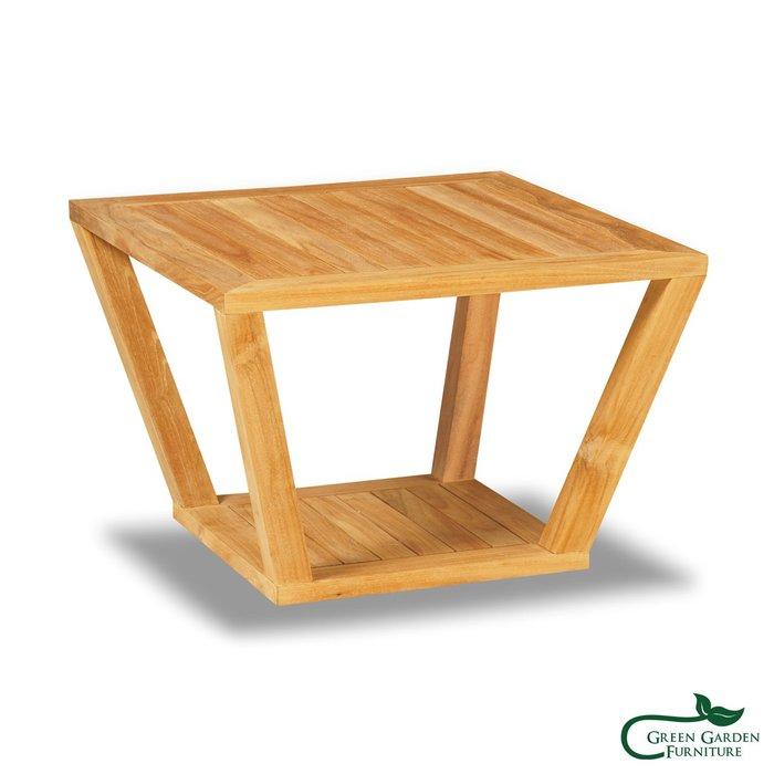 紐約 柚木邊桌(原色)【大綠地家具】100%印尼柚木實木/無上漆原木款/實木邊几
