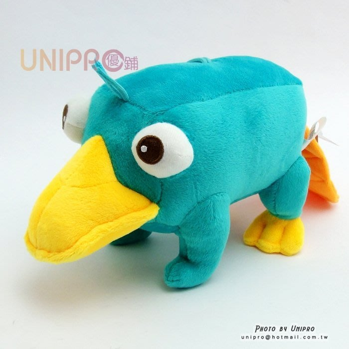 【UNIPRO】迪士尼 飛哥與小佛 鴨嘴獸 泰瑞鴨 站姿泰瑞  絨毛玩偶 絨毛娃娃 吸盤吊飾